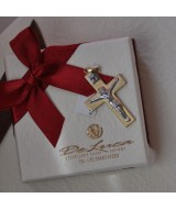 WHITE AND YELLOW GOLD CROSS K14 1.90 GR 511818040010