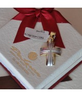WHITE AND YELLOW GOLD CROSS K14 9.00 GR 512771030010