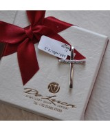 WHITE GOLD CROSS K14  2.20 GR WITH CRYSTALS 515645030010