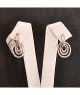 WHITE GOLD EARRINGS K18 3.00 GR WITH BRILLIANTS 0.11 ct 710595040010