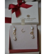 GOLD EARRINGS WITH CRYSTALS 14 K 3,1 gr KOD 710461050010