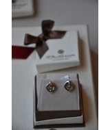 GOLD EARRINGS WITH DIAMONDS (BR,CT) 0,02 CT 14 K. 2,4 gr KOD SG00145