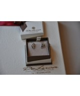 GOLD EARRINGS WITH DIAMONDS (BR.) 0,02 CT 14 K W+G 1,7 gr KOD 811055060010