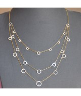 WHITE GOLD NECKLACE K14 15.20 GR WITH CRYSTALS 810132050010