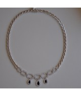 WHITE GOLD NECKLACE K18   30.47 GR WITH BRILLIANTS 2.06 ct KG00265