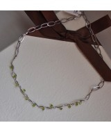 GOLD NECKLACE K14 9.20 GR WITH PERIDOTS KG00564
