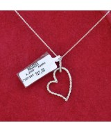 WHITE GOLD PENDANT K18  1.20 GR WITH BRILLIANS 0.11 ct MG00253