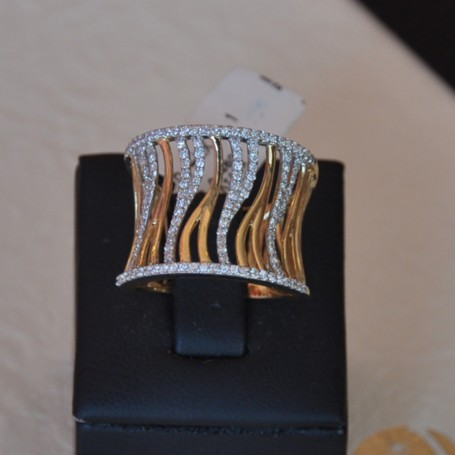 YELLOW GOLD RING K18  8.10 GR WITH BRILLIANTS 0.460 ct 210075070011