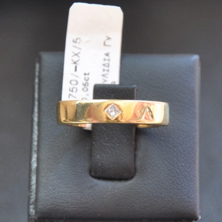 YELLOW GOLD RING K18  5.00 GR WITH BRILLIANT 0.05 ct 510899030010