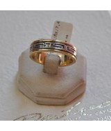 WHITE AND YELLOW GOLD RING K14 7.40 GR 910286080010