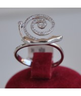 WHITE GOLD RING K18 3.40 GR WITH BRILLIANTS 0.15 ct DG01050