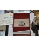 RING K14 WHITE GOLD 8 gr WITH CRYSTAL
