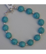 SILVER BRACELET 925 WITH TURQUOISE 17.70GR BG00748