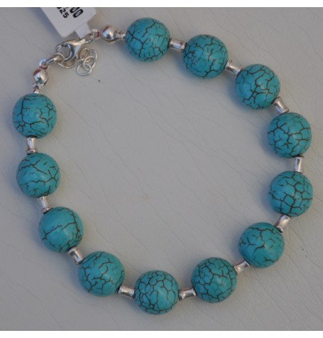 SILVER NECKLACE 925 WITH TURQUOISE 132.10GR KG00598