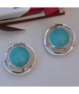 SILVER EARRINGS 925 WITH TURQUOISE 25.80GR SG01520