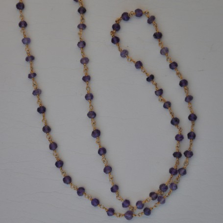 SILVER NECKLACE 925 WITH AMETHYST 4.30GR KG00655