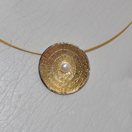 SILVER NECKLACE 925  WITH PEARL 7.00GR KG00669