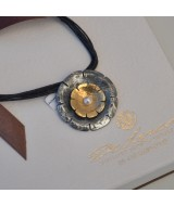 SILVER 925 AND YELLOW GOLD K18 NECKLACE WITH PEARL 17.60GR MG00003