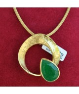 SILVER PENDANT 925  WITH MALACHITE 13.10GR MG01334