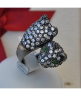 SILVER RING 925  WITH CRYSTALS 18.80GR DG02586